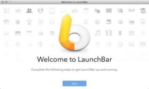 Mac Launchbar screen