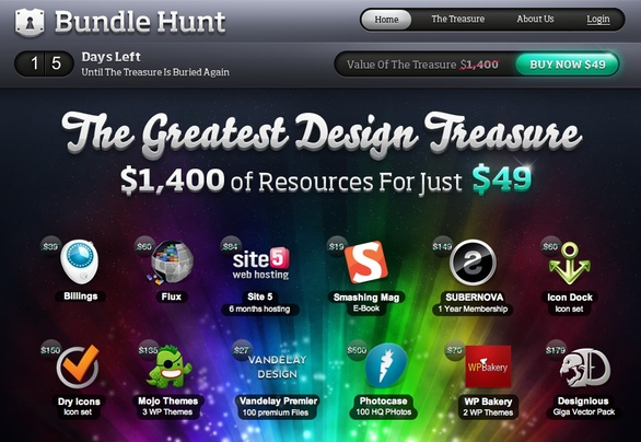 Bundle Hunt website home